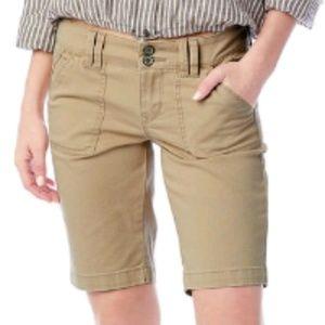 Junior's Unionbay Blanche Solid Bermuda Shorts
